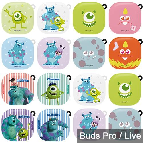 韓國 迪士尼 怪獸電力公司 Buds Pro / Live 保護殼│兩片式 含掛環 硬殼 保護套