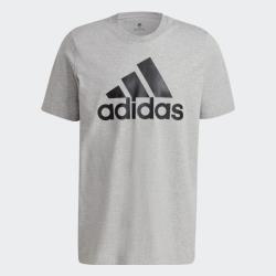 Adidas ESSENTIALS BIG LOGO 男裝 短袖 休閒 大LOGO 棉質 灰【運動世界】GK9123