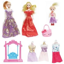 公主娃娃芭比娃娃洋娃娃1組2入可換裝娃娃 190096【卡通小物】