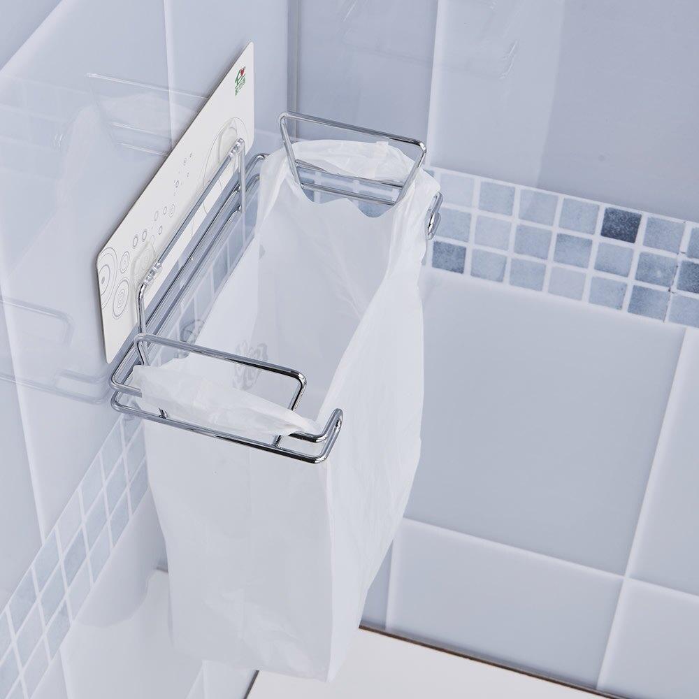 家而適 垃圾袋架 垃圾桶壁掛架 廚房 浴室 免釘無痕收納架 台灣製 膠片保固