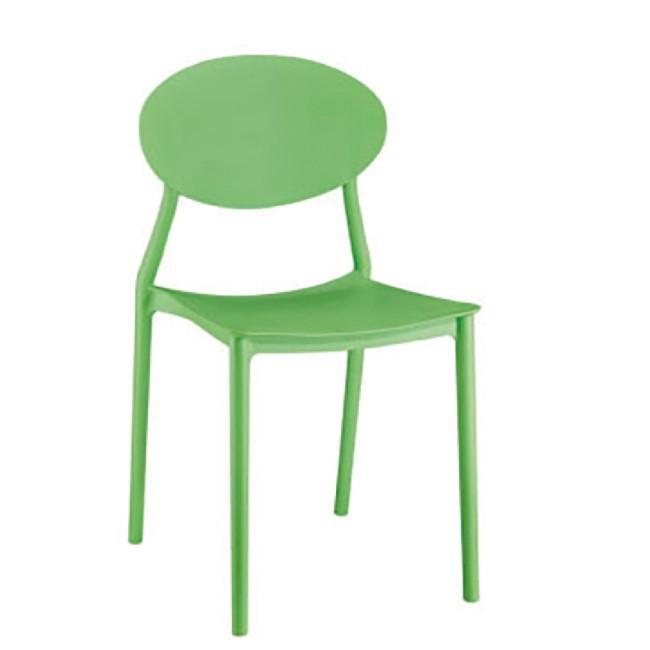 【1025-11】奇摩造型塑鋼椅D-826(亮綠色)