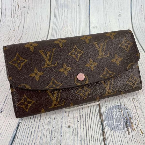 BRAND楓月 LOUIS VUITTON LV 路易威登 M61289 原花EMILIE粉內裡長夾 錢包 皮夾 錢夾
