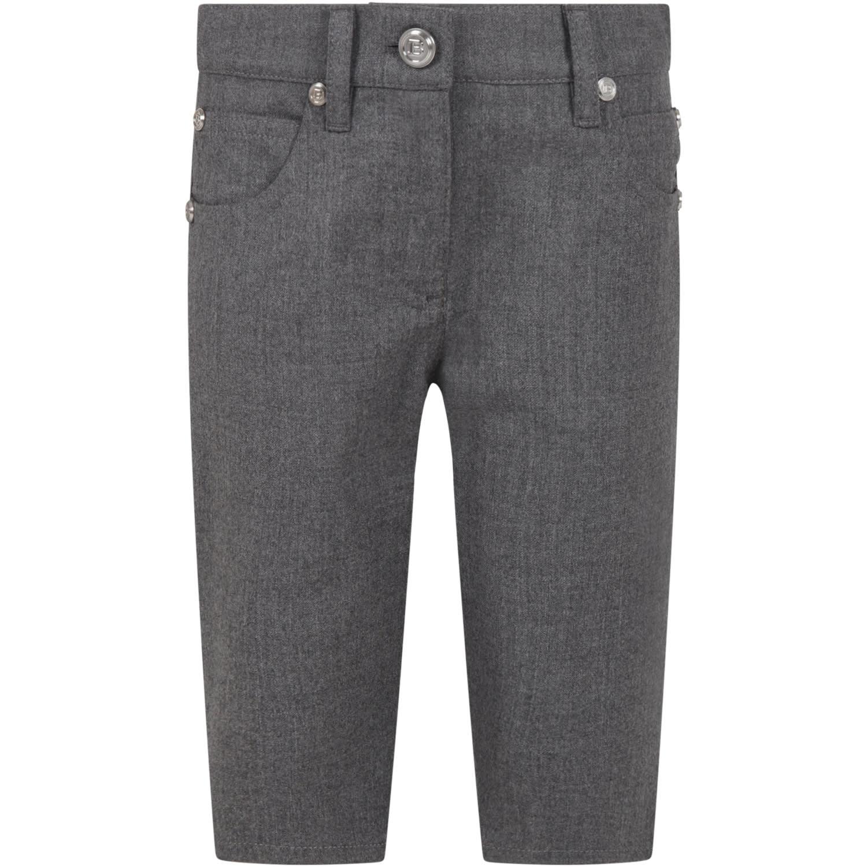 Balmain Grey Short For Girl