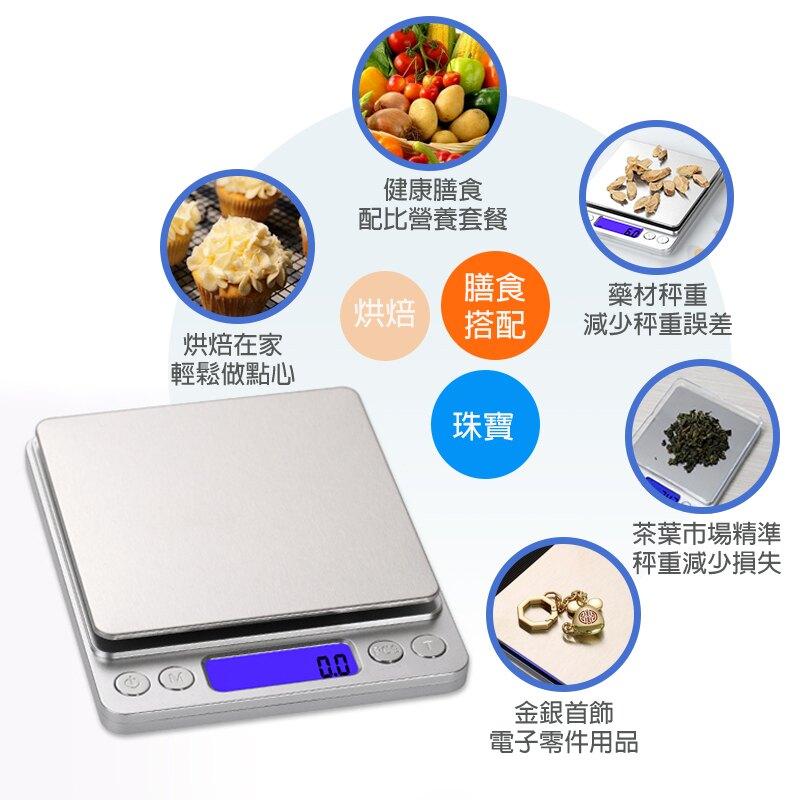 LCD數位磅秤【附4號電池兩顆】烘焙用具 迷你秤 食物秤 咖啡秤 料理秤 磅秤