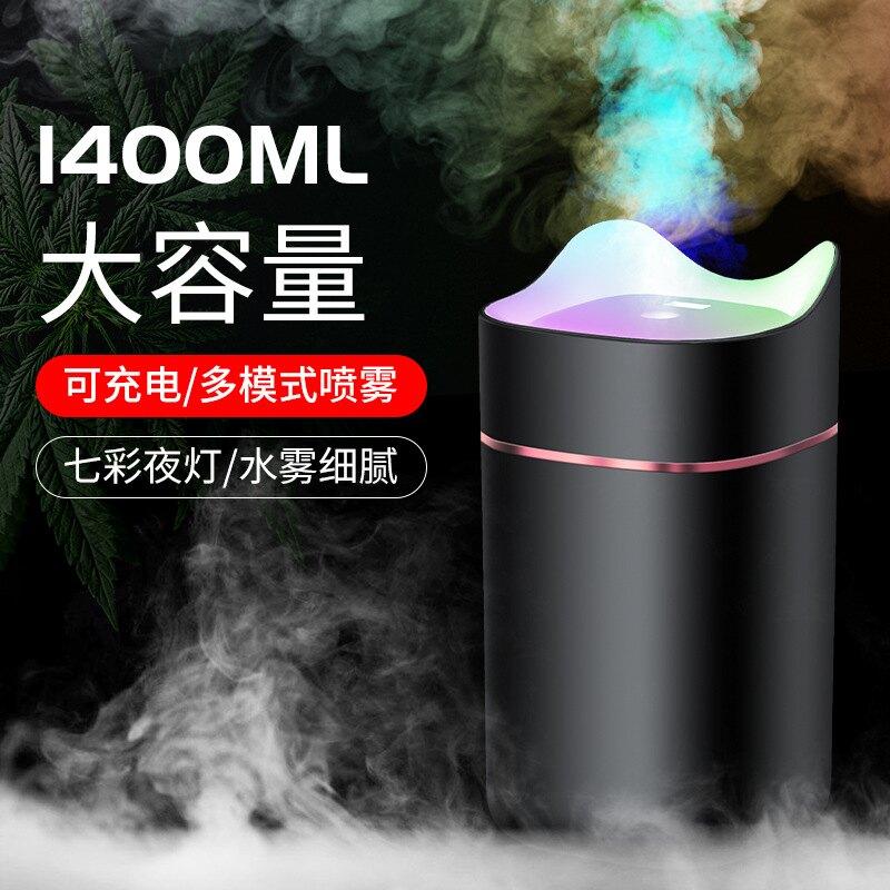 新款私模USB加濕器香熏家用臥室辦公車載桌面加濕器七彩led燈