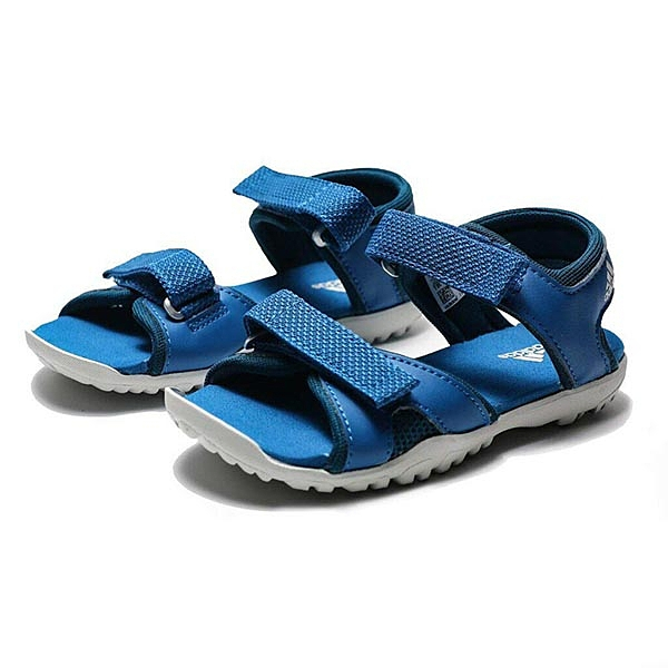 ADIDAS 涼鞋 SANDPLAY OD K 深藍白 魔鬼氈 運動 輕量 中童(布魯克林) BC0705