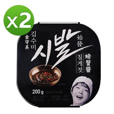 【韓味不二】金守美螃蟹醬(200g)*2入