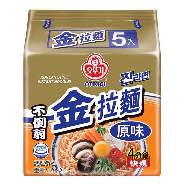 韓國不倒翁(OTTOGI)金拉麵(原味)120gx5