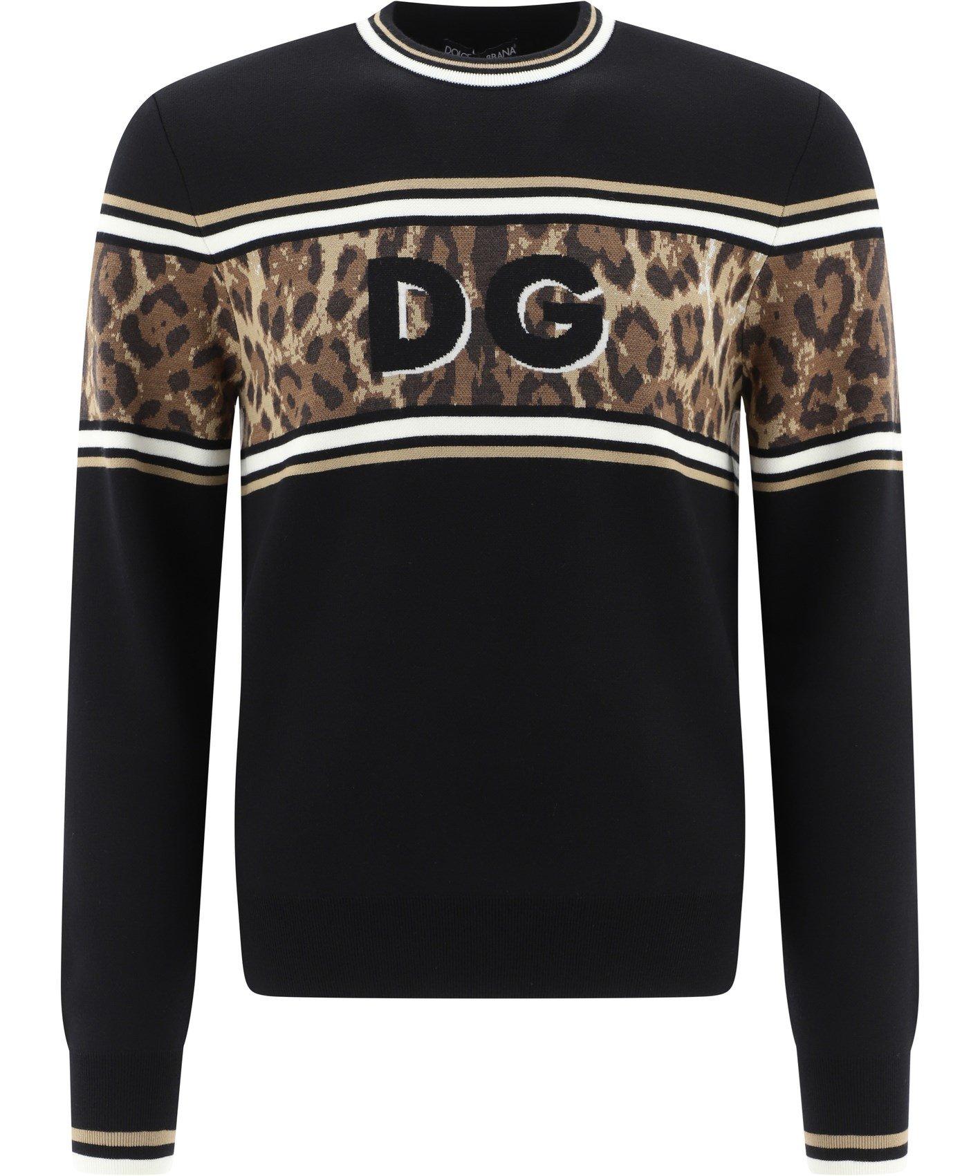 """DG Leopard"" sweater"