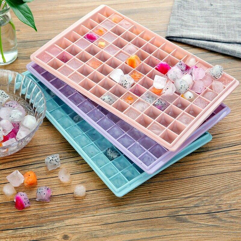鑽石冰格製冰盒凍冰塊模具60/96格 家用冰箱做冰棒的盒子磨具