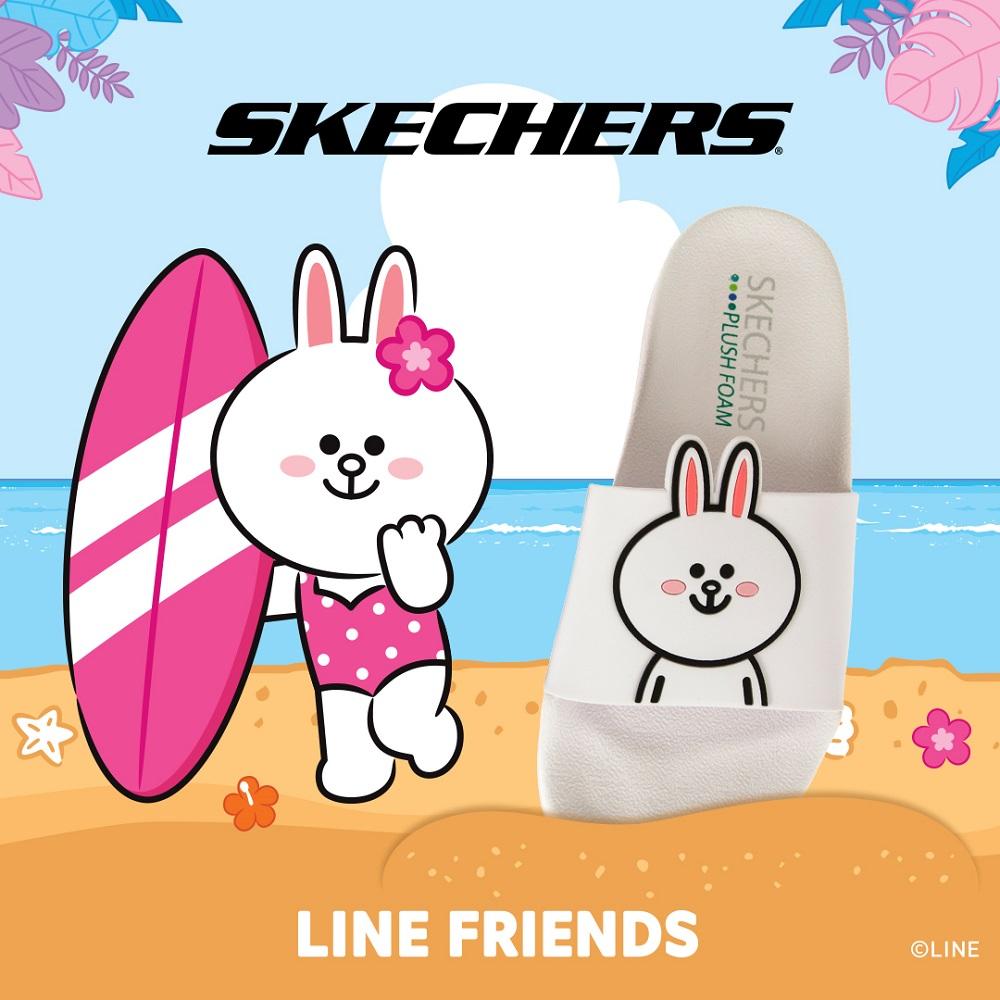SKECHERS 女 2ND TAKE-LINE FRIENDS 兔兔限定款 - 31644WHT