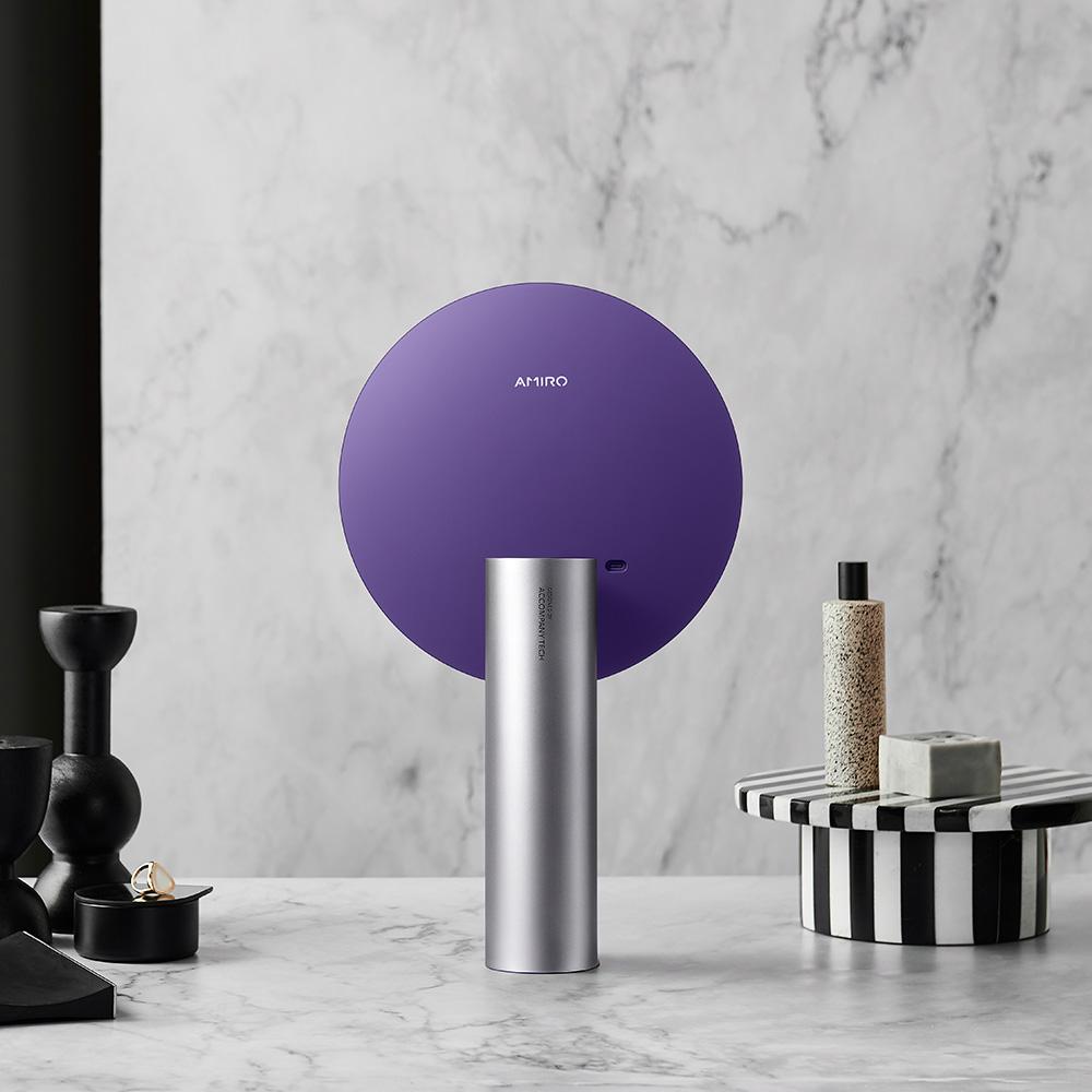 AMIRO O 系列 VINTAGE 限定高清日光 LED 化妝鏡復古版 - 迷幻紫 (無線充電版)