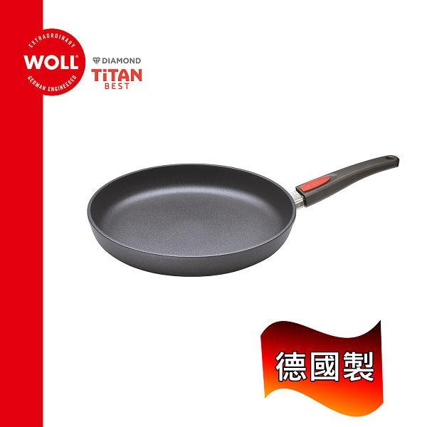 《WOLL》德國歐爾-鈦鑽 32cm鑄造不沾平底鍋(手把可快拆)