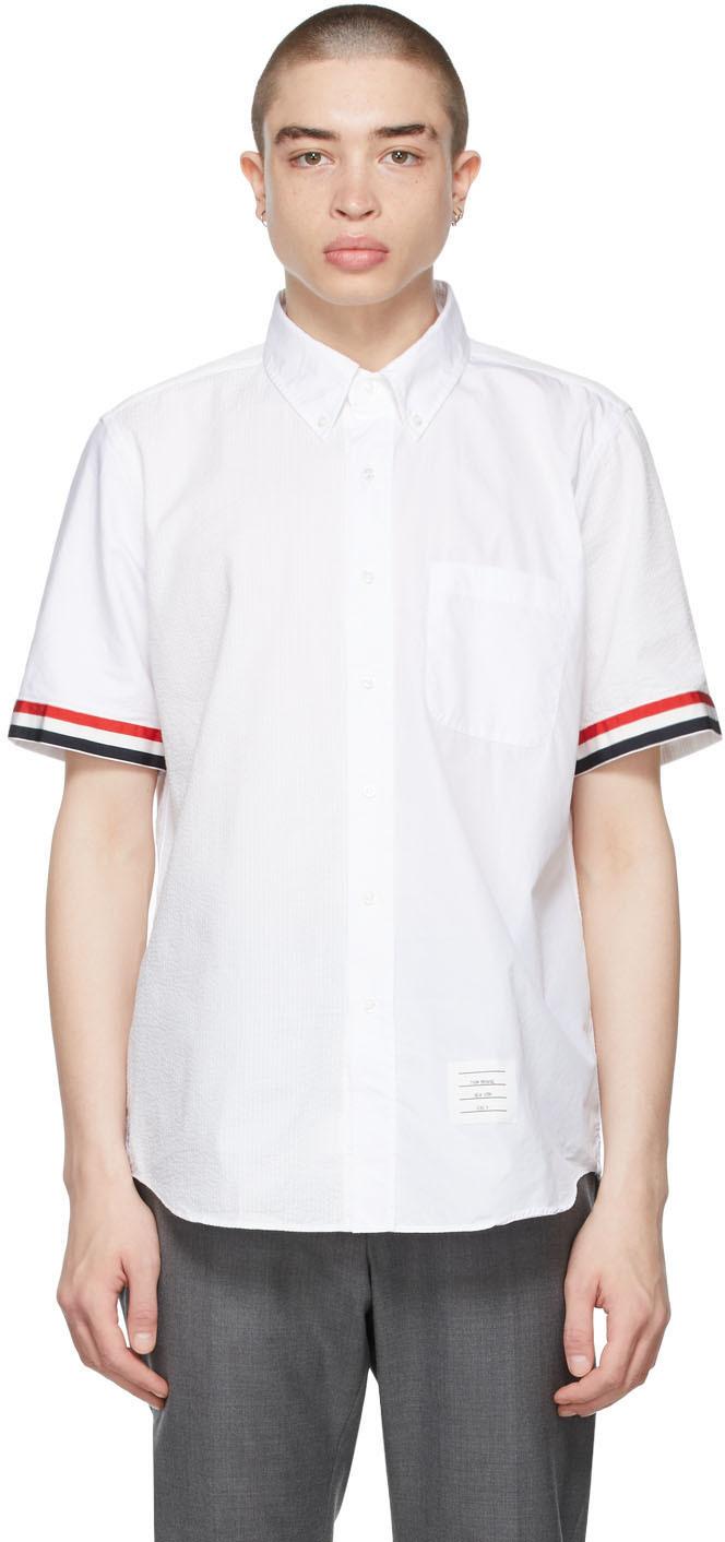 Thom Browne 白色 Funmix 短袖衬衫