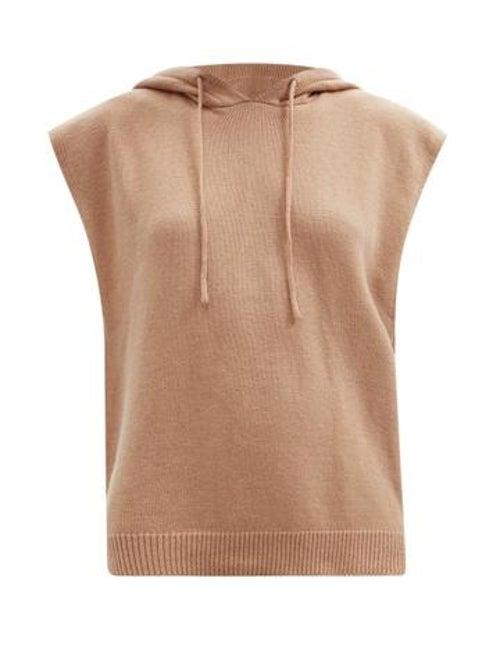 The Frankie Shop - Juno Sleeveless Hooded Wool-blend Sweater - Womens - Camel