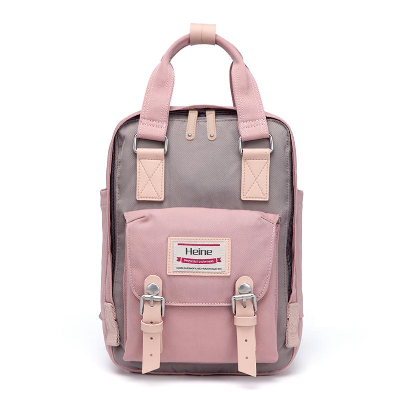 Heine海恩 WIN-198P 超人氣小後背包 - 玫瑰粉薰衣紫