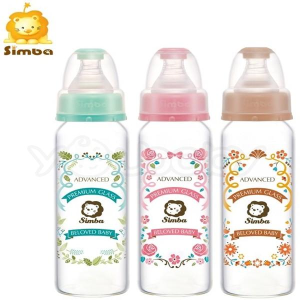 小獅王辛巴 simba 蘿蔓晶鑽標準玻璃大奶瓶240ml
