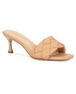 Olivia Miller Women's Half Moon Braided Dress Slide Sandals Women's Shoes