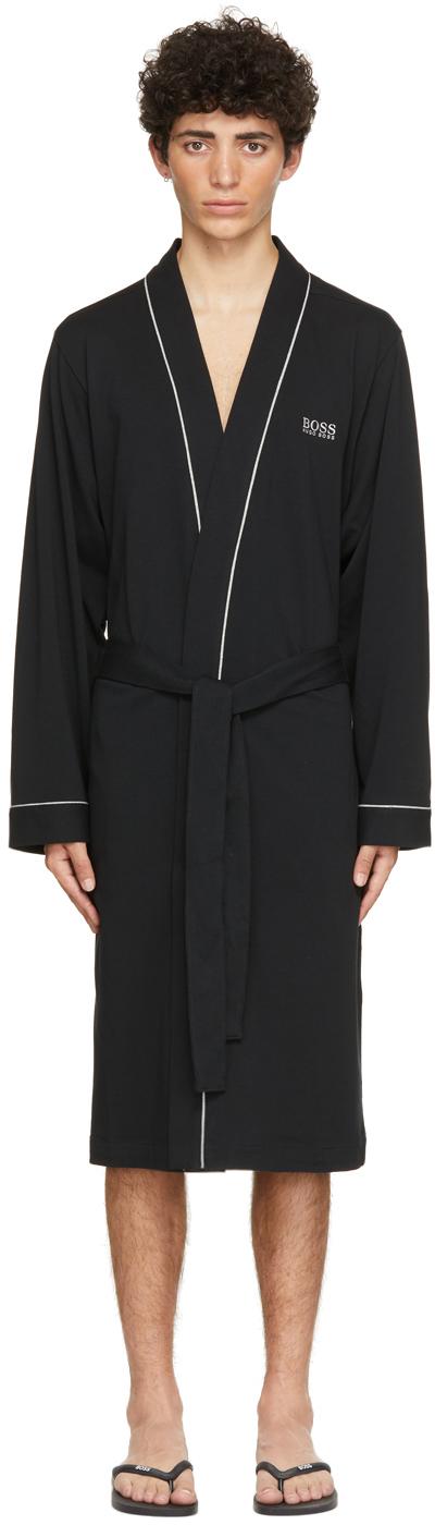 BOSS 黑色 Kimono 浴袍