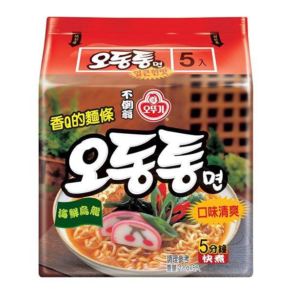 韓國不倒翁(OTTOGI)海鮮風味烏龍拉麵120gx5