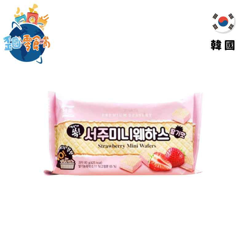 【韓國】SEOJU迷你威化酥80g-草莓風味