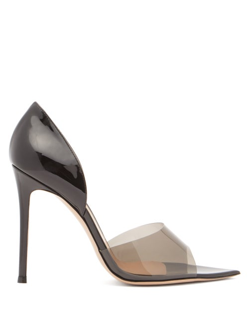 Gianvito Rossi - Bree 105 Pvc And Patent-leather Pumps - Womens - Black
