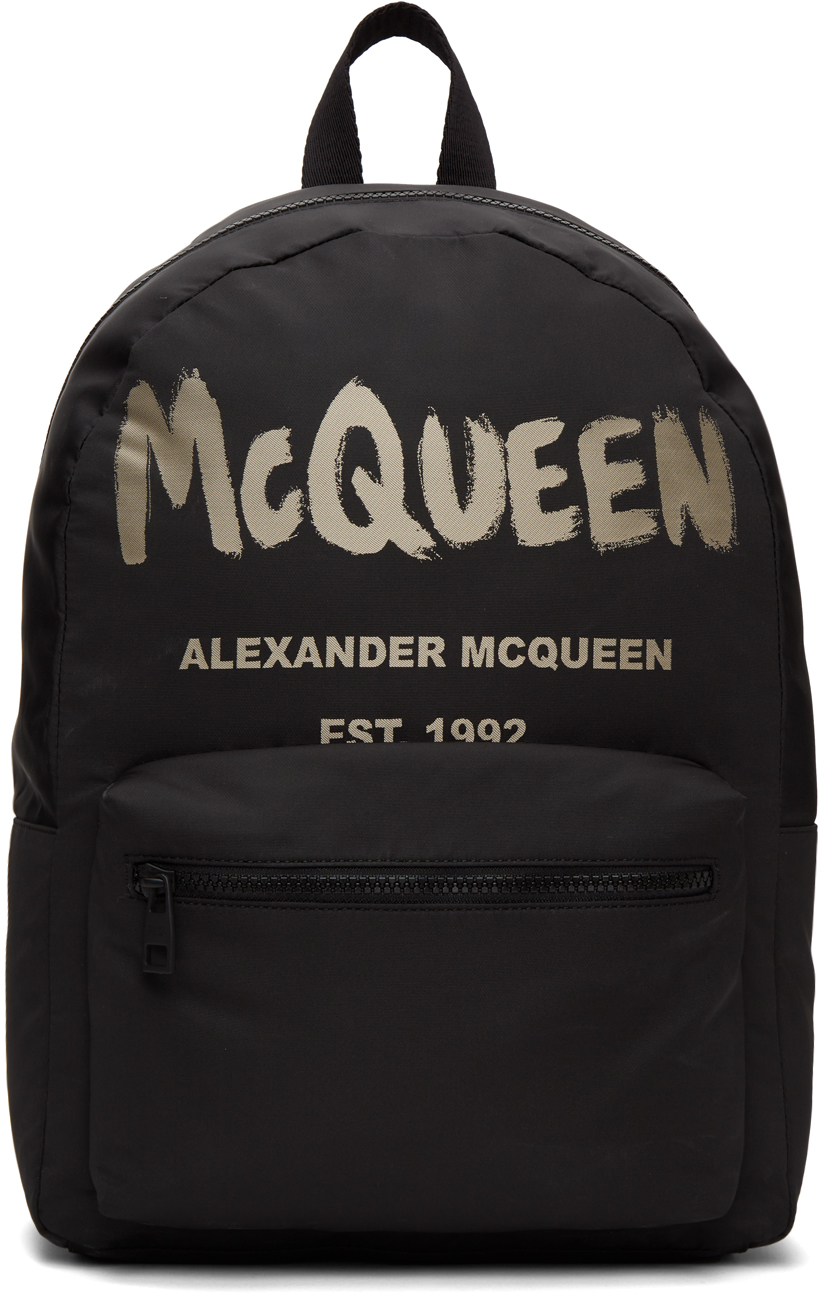 Alexander McQueen 黑色 Metropolitan 双肩包