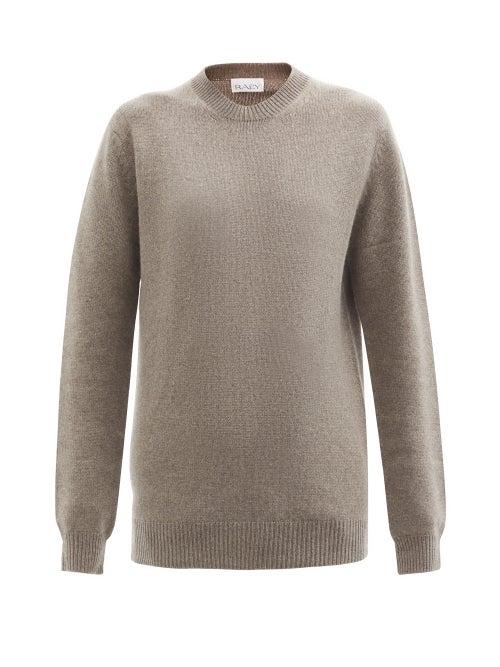 Raey - Crew-neck Recycled-cashmere Boyfriend Sweater - Womens - Light Brown