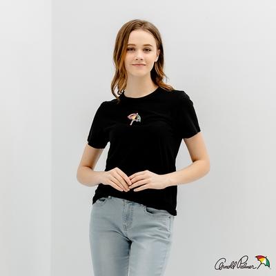 Arnold Palmer -女裝-錯視效果印花 LOGO TEE-黑色