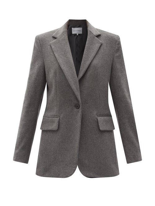 Michelle Waugh - The Dixie Single-breasted Wool-blend Jacket - Womens - Charcoal