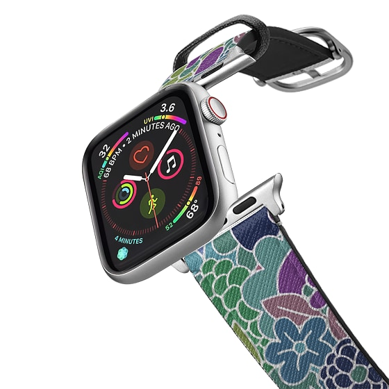 CASETiFY Apple Watch Band (42mm/44mm) Saffiano Leather Watchband V4 - Flower for you! by Matthew Lan
