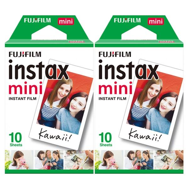 FUJIFILM Instax Mini 拍立得底片 空白底片 白邊底片 2盒裝20張 適用 mini系列 買四盒送紙膠