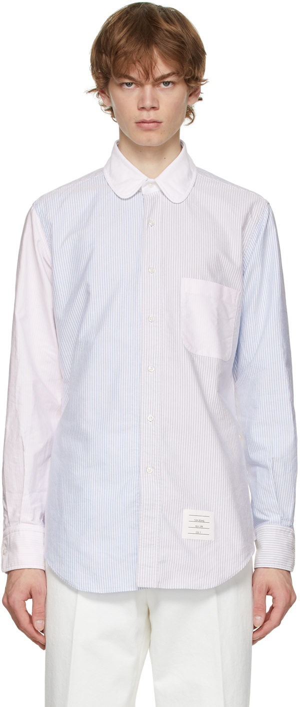 Thom Browne 多色 Funmix 条纹衬衫