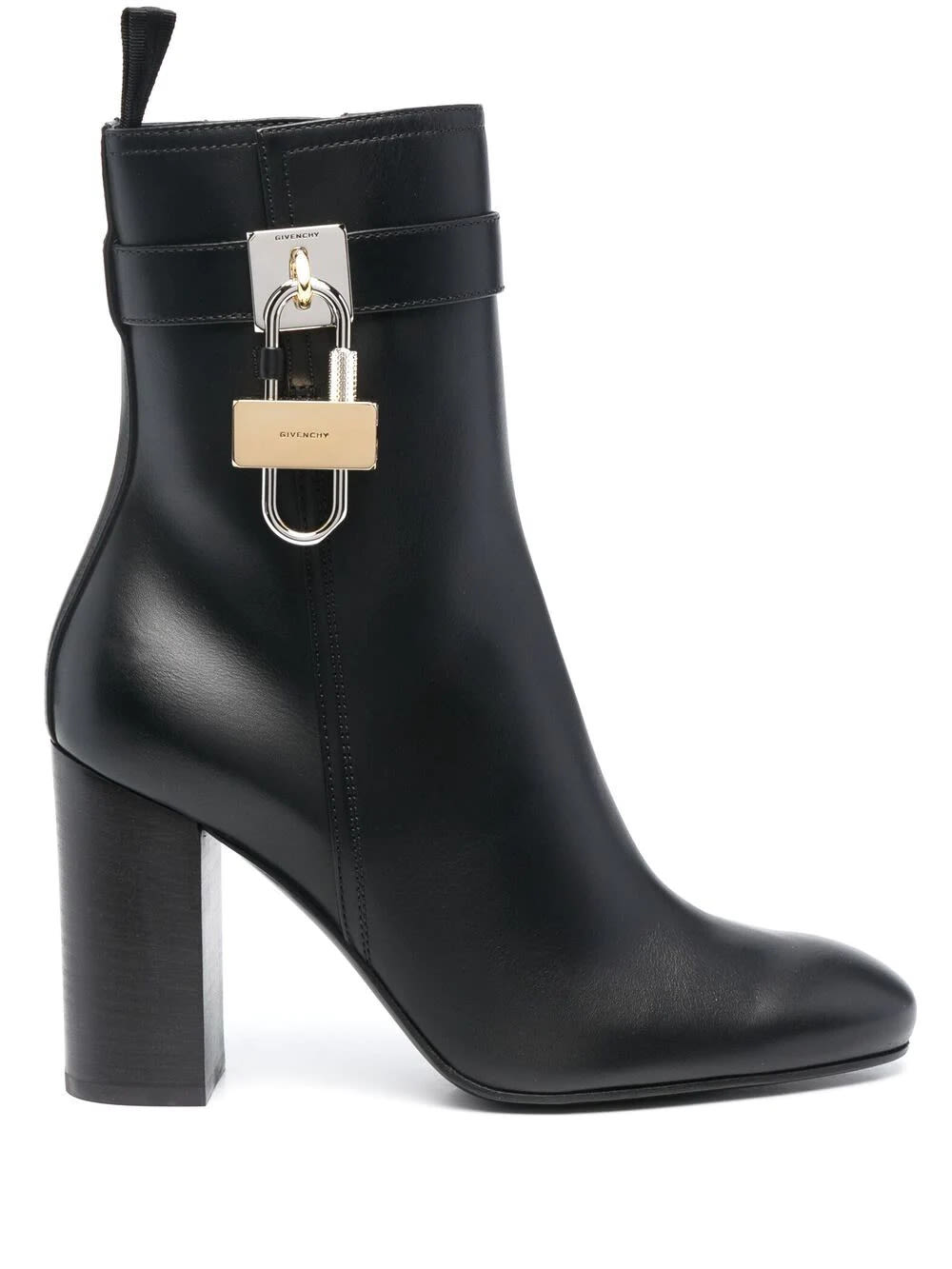 Givenchy Black Leather Ankle Boot With Padlock
