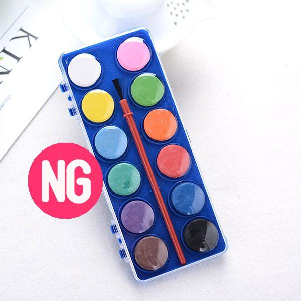 NG款7.7折出清!福利品!12色水彩粉餅顏料 水彩 戶外寫生畫畫《Jami》