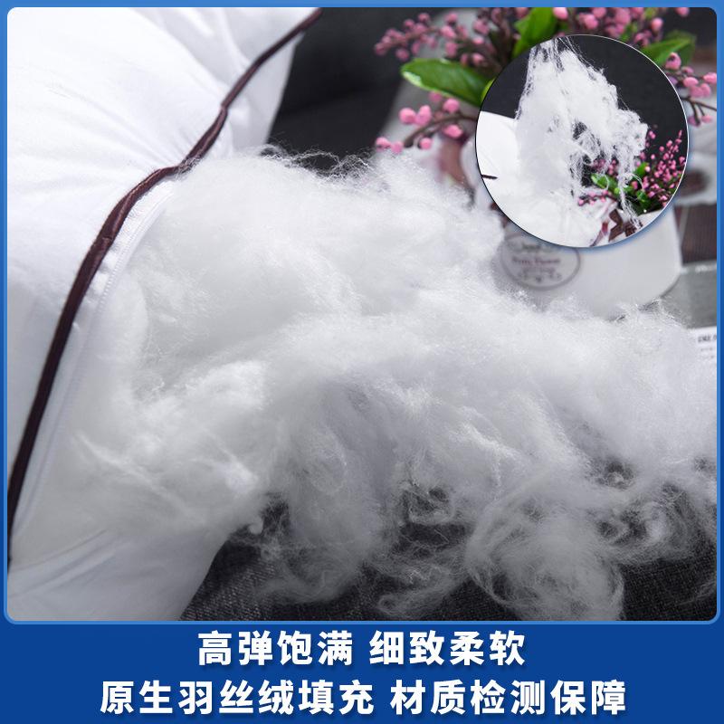 羽絲絨抱枕芯 磨毛布全棉防羽布靠墊芯腰枕靠包芯 40 45 50 55 60