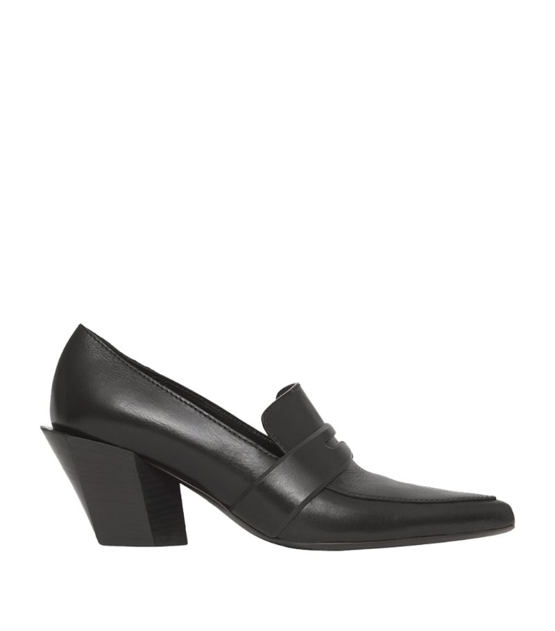 Burberry Leather Heeled Loafers 55