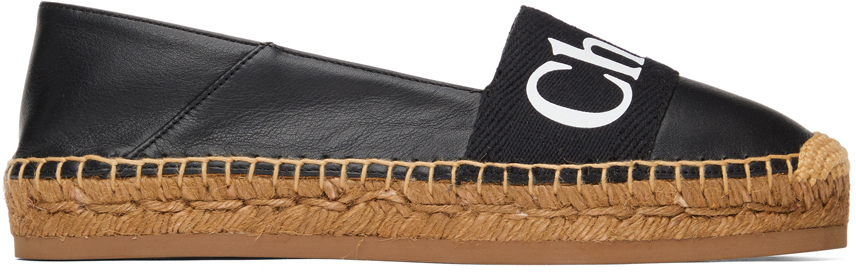 Chloé 黑色 Woody 草编鞋