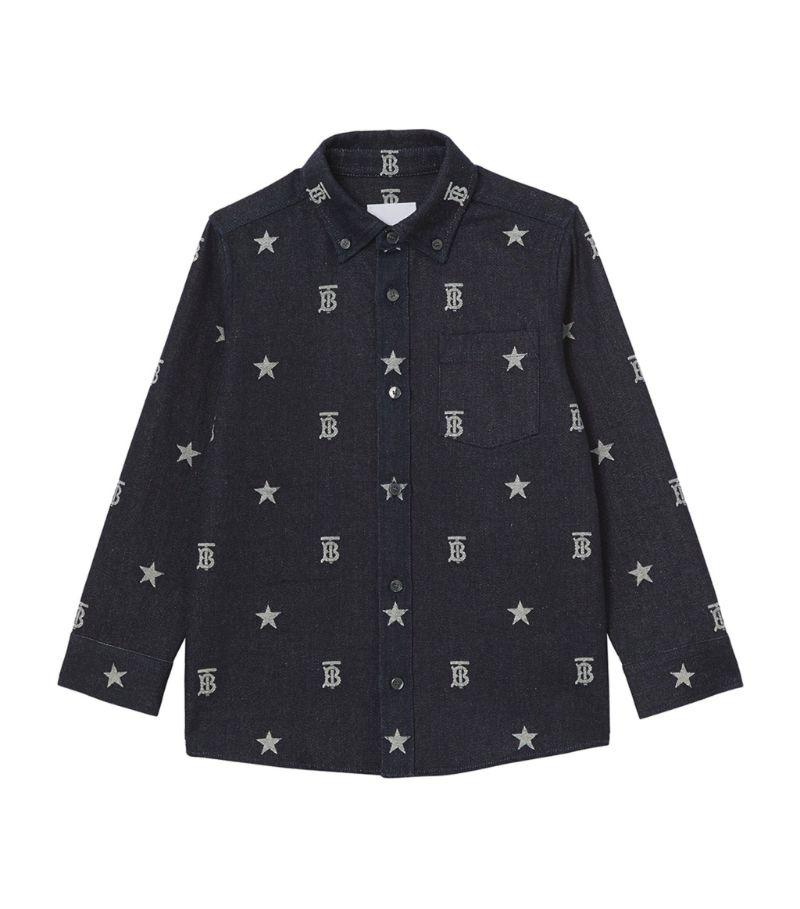Burberry Kids Cotton Tb Monogram Jacquard Shirt (6-24 Months)