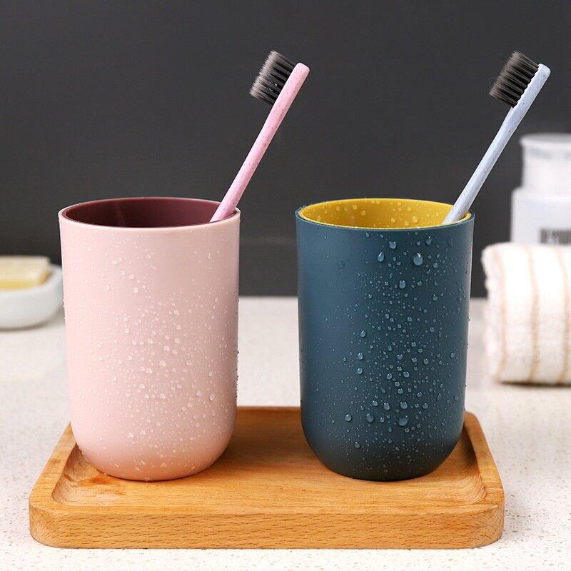 簡約刷牙杯漱口杯牙杯喝水杯子洗漱牙刷杯塑料牙缸