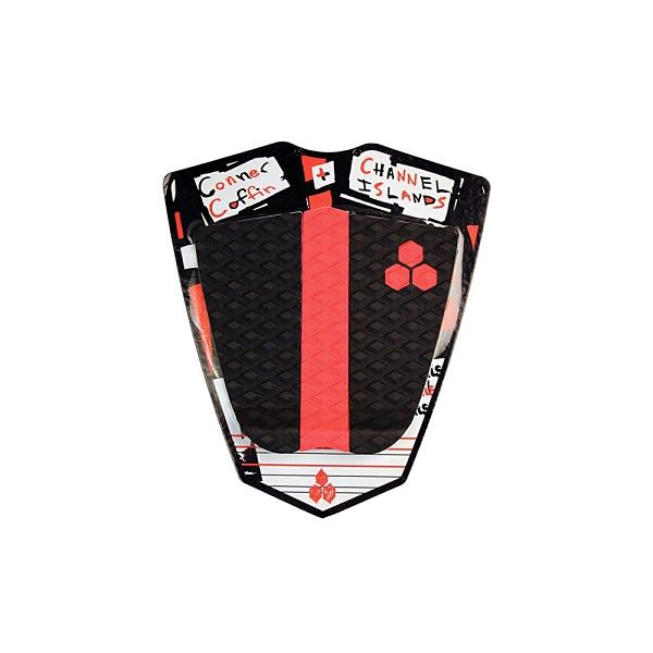 Channel Islands|衝浪配件 CONNER COFFIN FLAT PAD 三片式防滑墊 / 止滑墊 - (黑/紅)