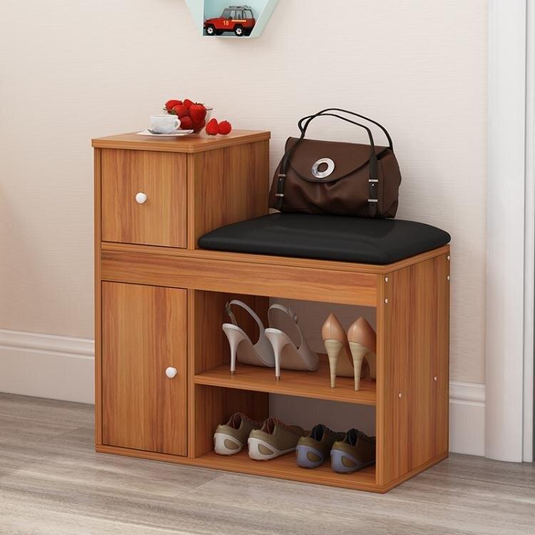 【現貨】 換鞋凳鞋櫃簡約現代北歐可坐式家用門口進門鞋架多功能創意穿鞋凳 【618購物】