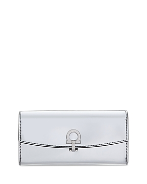 Salvatore Ferragamo Patent Leather Continental Wallet