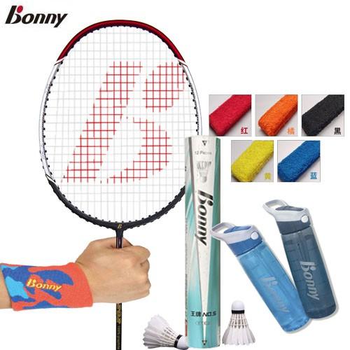 【Bonny】波力 羽動健康 五件組 經典全碳羽拍