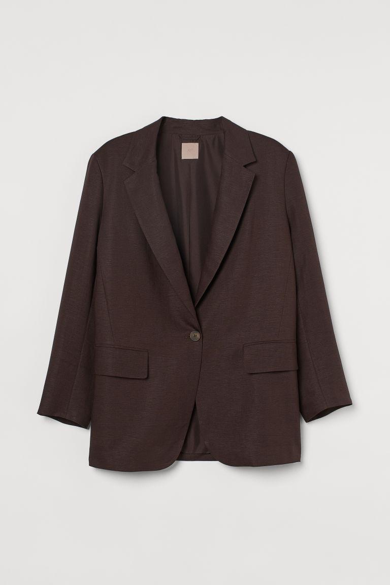 H & M - H & M+ 加大碼外套 - 褐色