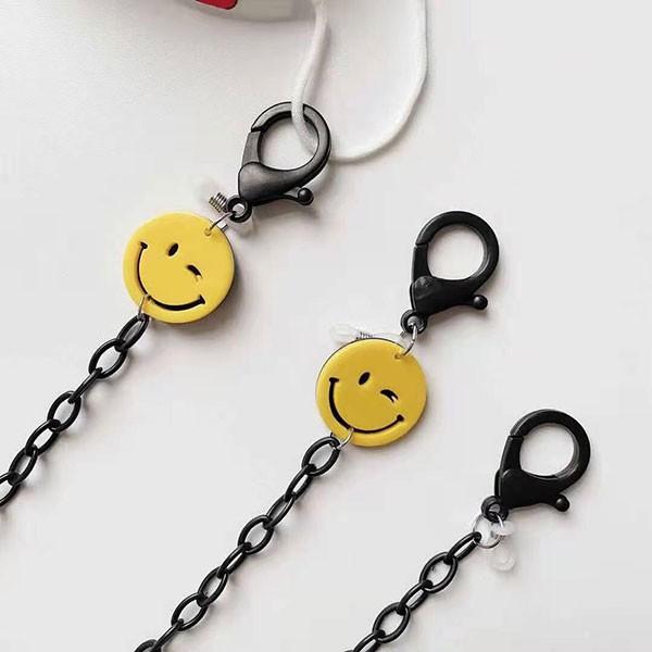 NXS 韓國 笑臉 口罩鍊 口罩防丟掛鍊 口罩掛繩 口罩 防掉鍊 防疫小物 護目鏡 防疫面罩 可愛 網紅 微笑