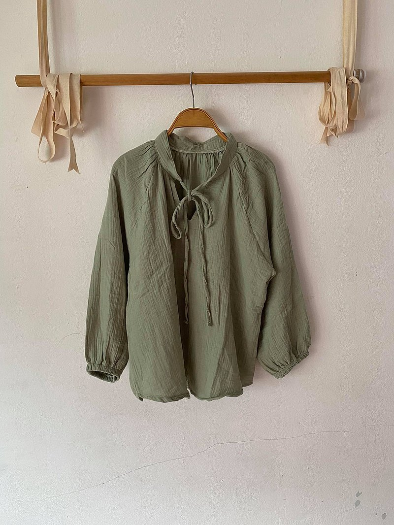 KiKi抹茶棉夏襯衫,非常柔軟輕便舒適超大號no.01