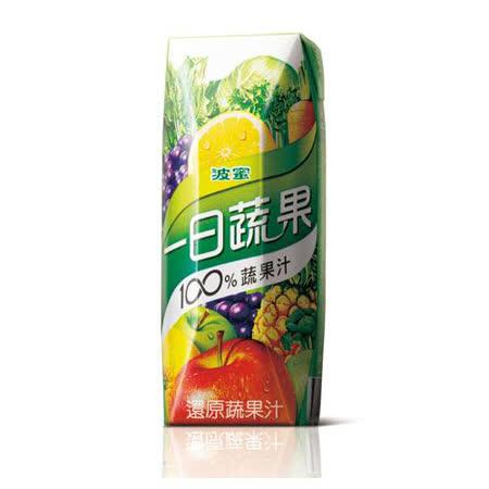 波蜜一日蔬果100%蔬果汁250mlx6入