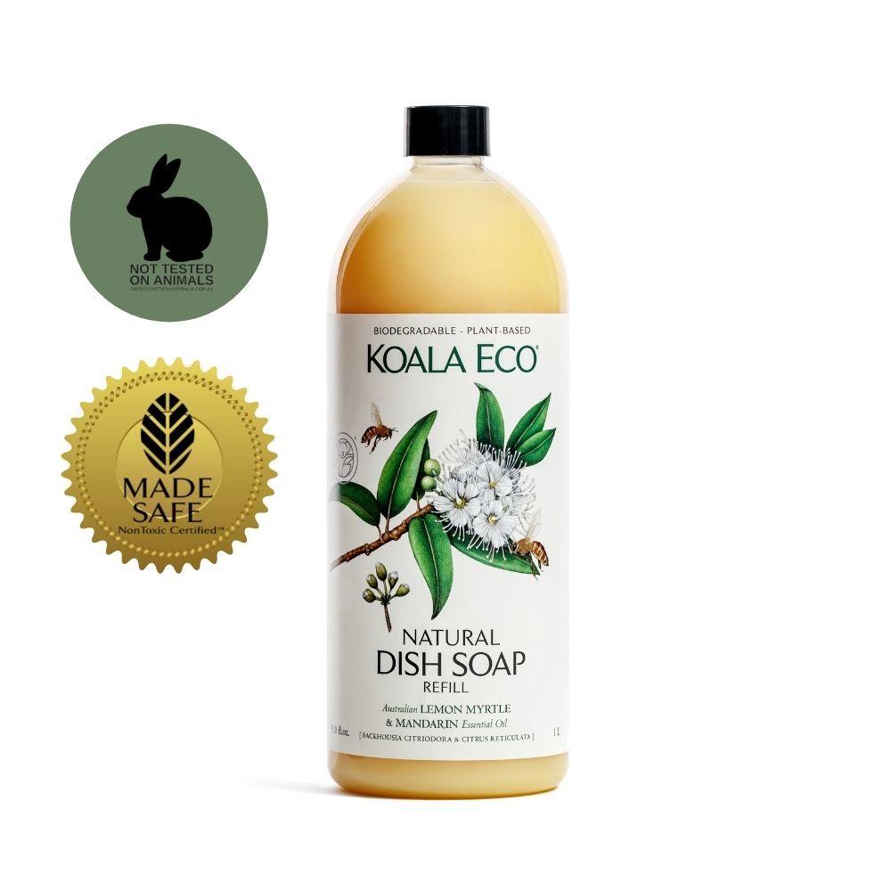 【澳洲科菈KOALA ECO】光澤洗碗精補充瓶(檸檬香桃木&橙)