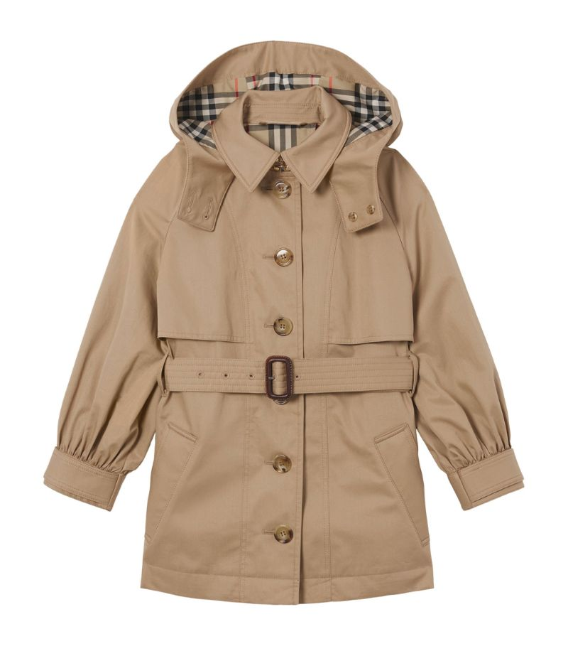 Burberry Kids Cotton Twill Trench Coat (3-14 Years)